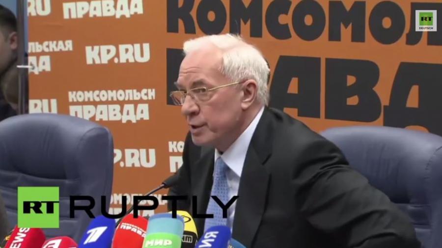 Ukrainischer Ex-Premier: EU drohte uns indirekt mit Putsch
