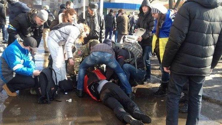Explosion bei Gedenkmarsch in Charkow