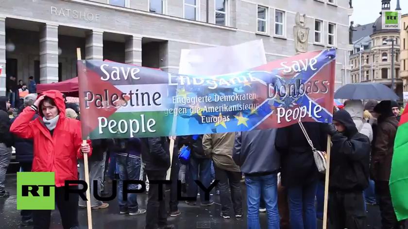 EnDgAmE-Demo - Hunderte gegen den US-Einfluss und für die Ost-Ukraine auf der Straße