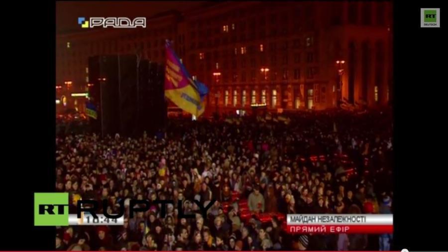 """LIVE: Erster Jahrestag der """"Maidanrevolution"""" - Kiew erinnert sich an die Opfer"""