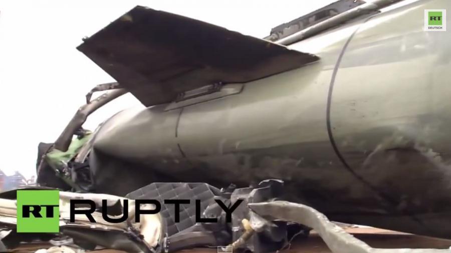 LNR-Kämpfer holen Totschka-U Rakete vom Himmel
