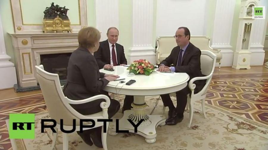 Treffen in Moskau: Bringen Merkel und Hollande den Frieden?