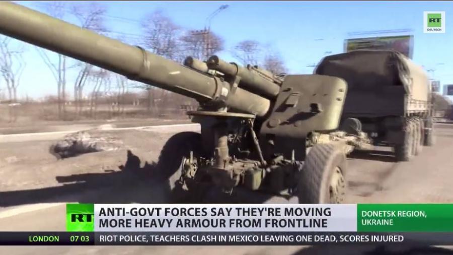 OSZE bestätigt: Ostukrainische Volkmilizen ziehen Waffen ab