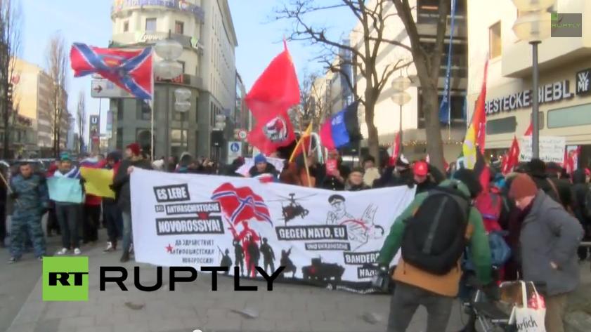 Live: Protest gegen den ukrainischen Präsidenten Poroschenko in München