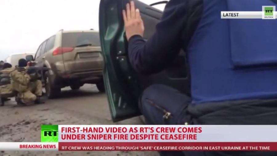 RT-Korrespondent berichtet über Angriff durch ukrainische Scharfschützen auf sein Team