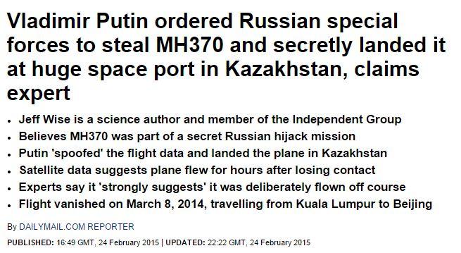 CNN-Analyst: Putin hat MH370 entführt und im Weltraumbahnhof Baikonur landen lassen