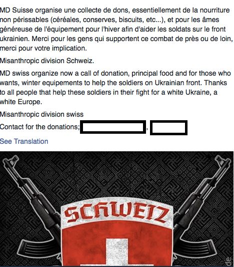Winterhilfswerk der Alpenrepublik? Schweizer Neo-Nazis unterstützen das Asow-Bataillon in der Ukraine