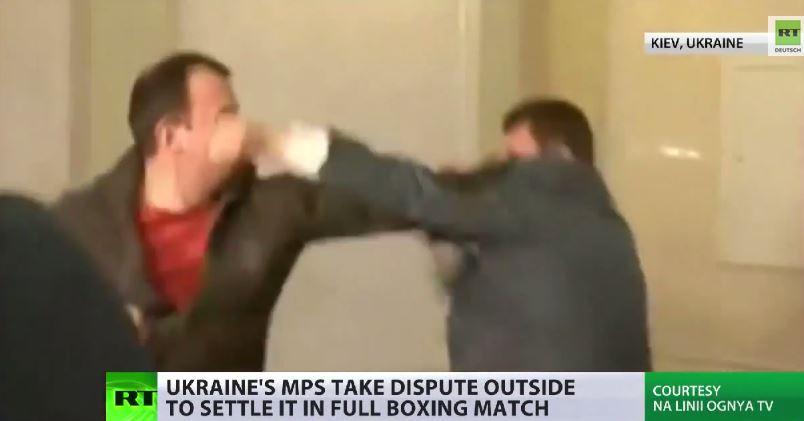 Kampf gegen Korruption? Schlägerei im ukrainischen Parlament