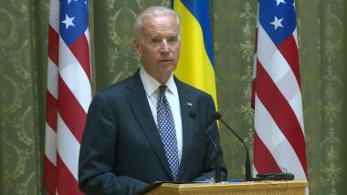 US-Vizepräsident Joe Biden in Kiew am 22. April 2014 - Quelle: ruptly
