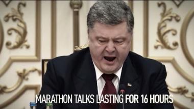 RT blickt hinter die Kulissen von Minsk: Wodkashots, Todesstoß für Merkels Handy und Putins Bleistift - Quelle: RT