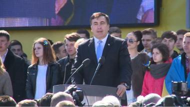 Ex-Präsident: Angeklagt in Georgien, doch Waffenimport-Koordinator in der Ukraine