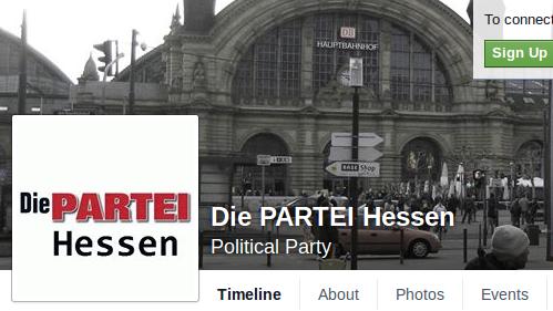 Facebook sperrte Account von DIE PARTEI wegen Kapitalismuskritik