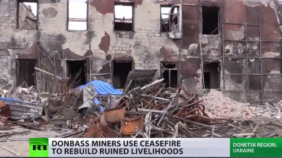 Ganze Industriezweige in Trümmern - Ostukraine beginnt mühsamen Wiederaufbau