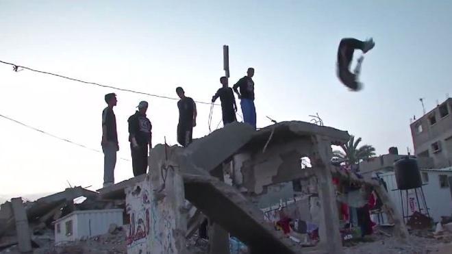 Gaza als Parkourpark – Turnübungen zwischen Ruinen