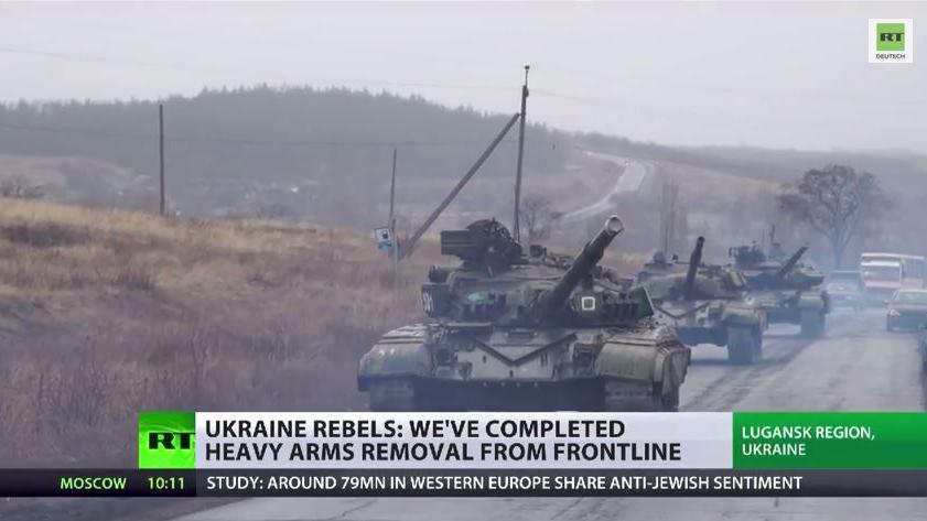 Ukraine: Volksrepubliken ziehen schweres Kriegsgerät ab - Kiew ignoriert Absprachen