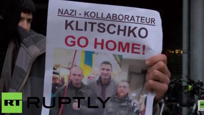 """Klitschko muss in Osnabrück einstecken: """"Nazi-Kollaborateur geh nach Hause!"""""""