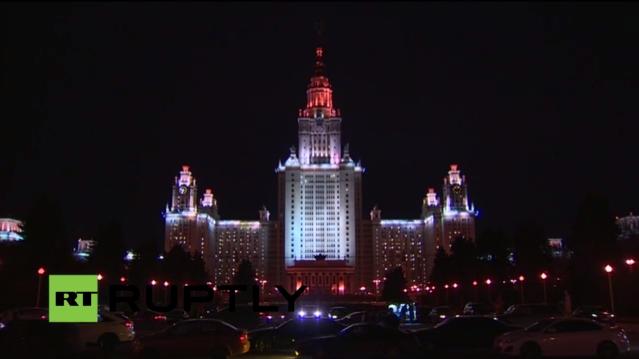 """Live: In Moskau gehen für """"Earth Hour"""" die Lichter aus"""
