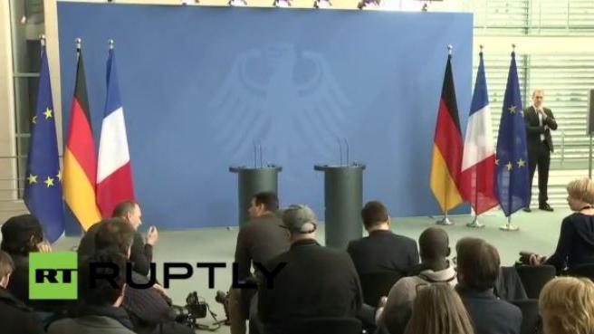 Live: Angela Merkel und François Hollande geben gemeinsame Pressekonferenz
