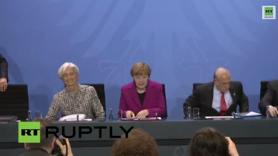 Berlin: Merkel trifft Chefs von IWF, Weltbank, WHO, OECD und ILO