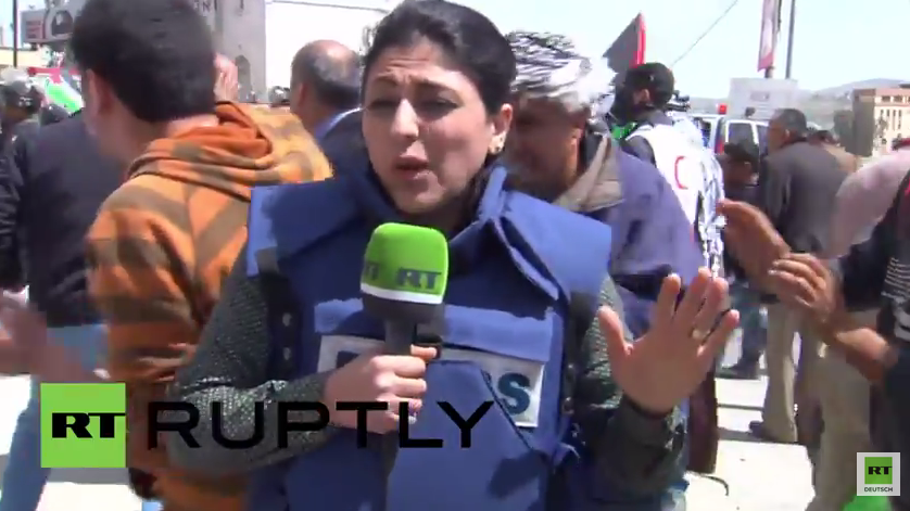 Westbank: Israelische Armee beschießt RT-Reporterin mit Blendgranaten