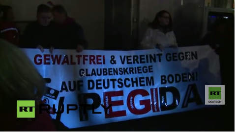 Live: Pegida-Demonstration in Dresden