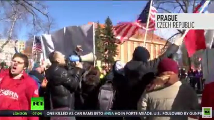 US-Militärkampagne begleitet von Protesten - Auch in Prag heißt es: Ami go home!