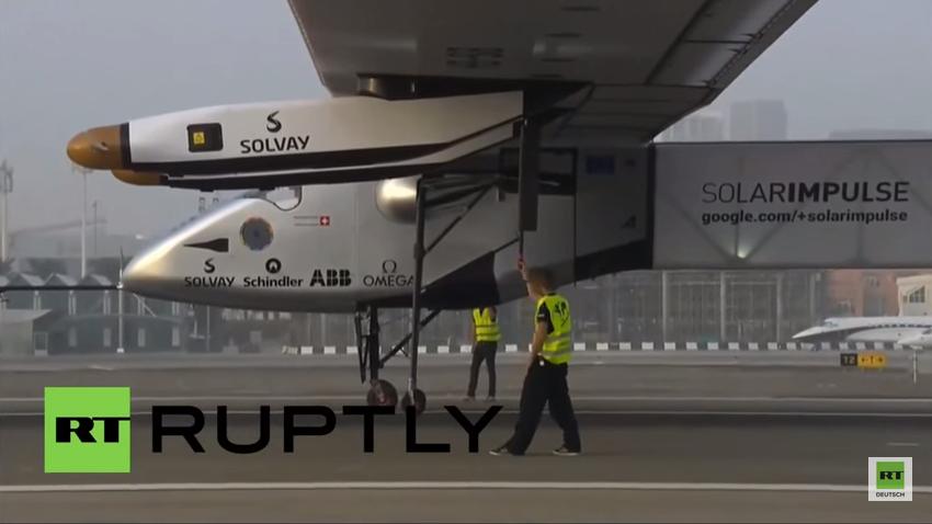 """Live: Sonnenkraft-Flugzeug """"Solar Impulse 2"""" macht Etappenstop bei Weltumrundung in Chongqing"""