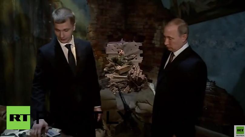 Russland: Putin besucht 3D-Nachbildung der Schlacht um Berlin