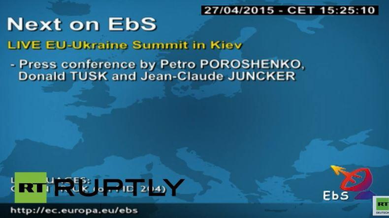 Live: Pressekonferenz nach EU-Ukraine-Gipfel in Kiew