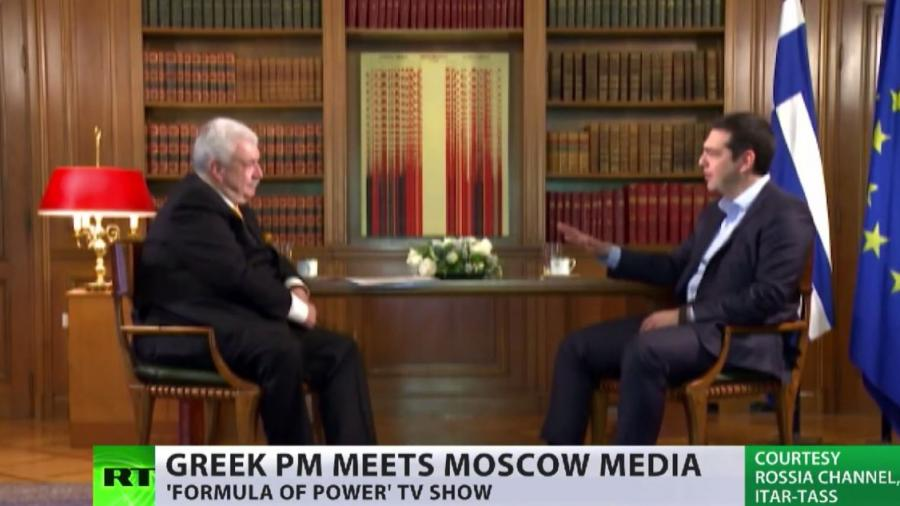Tsipras zu russischen Medien über seine Haltung zu den Sanktionen und dem Druck aus Brüssel
