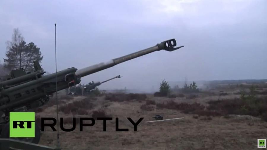 """Abschluss der NATO-Übung """"Summer Shield"""" in Lettland: Artilleriefeuer gen Osten"""