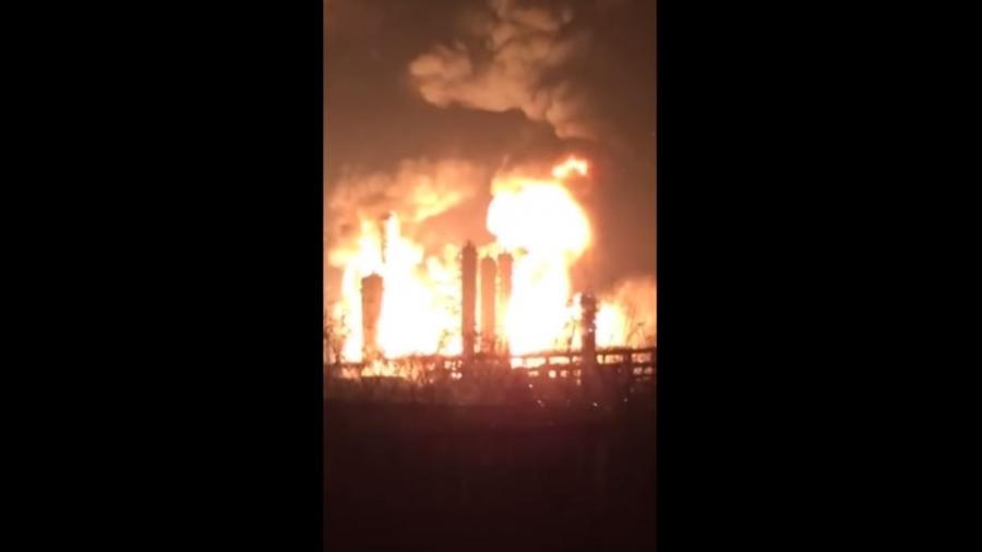 Inferno: Chinesische Chemiefabrik explodiert