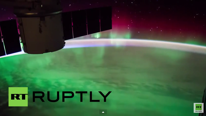 Wunderschöne Aurora australis - Spektakuläre Sicht auf Polarlichter durch ISS-Aufnahmen
