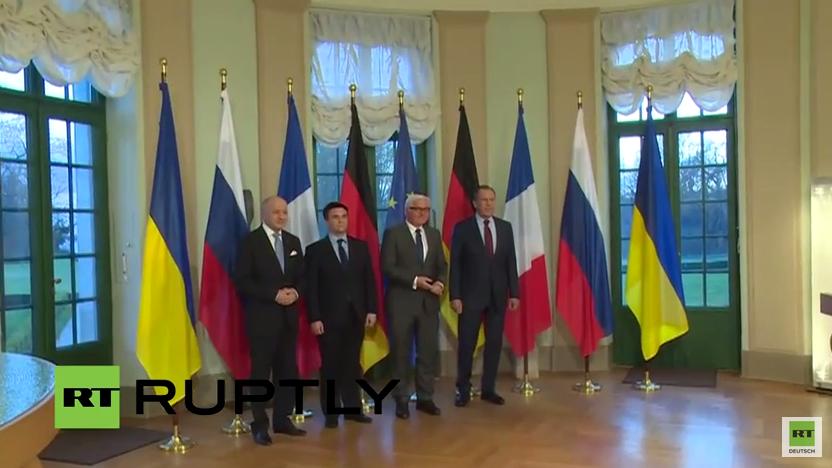 Live: Pressekonferenz nach dem Normandie-Treffen