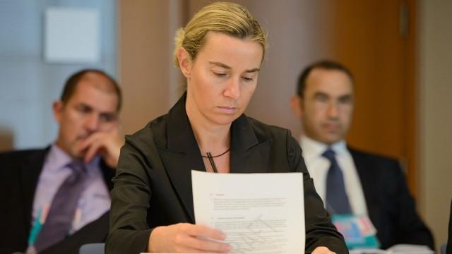 Live: Pressekonferenz Mogherinis nach EU-Außenministertreffen zur Flüchtlingspolitik