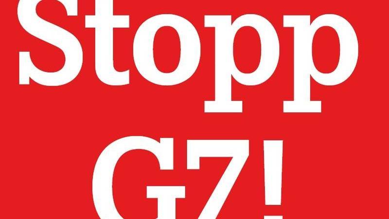 Protestgrafik von G7-Kritikern