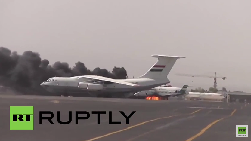 Jemen: Luftangriffe treffen Passagierflugzeuge am Flughafen Sanaa
