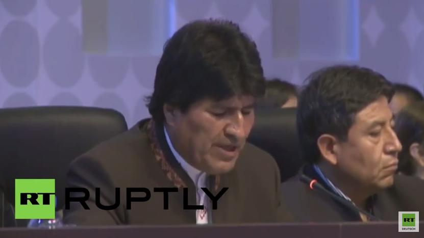 Bolivianischer Präsident zu Obama: Hören Sie auf die Welt in ein Schlachtfeld zu verwandeln