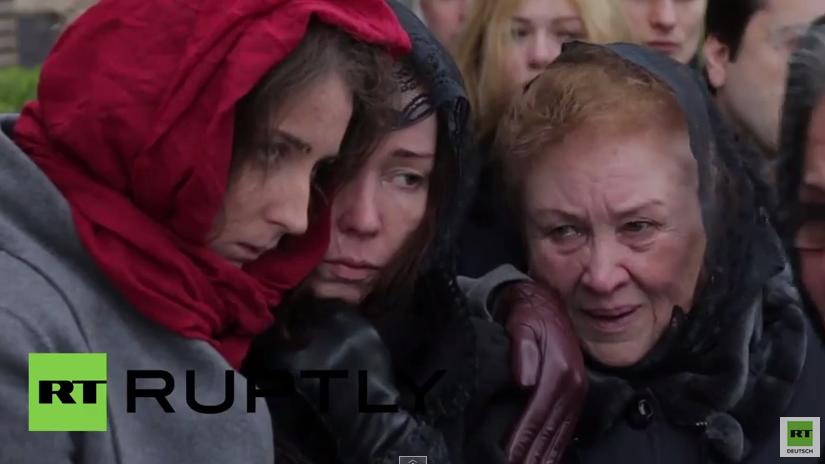 Kiew: Tiefe Trauer bei Oles Buzinas Beerdigung