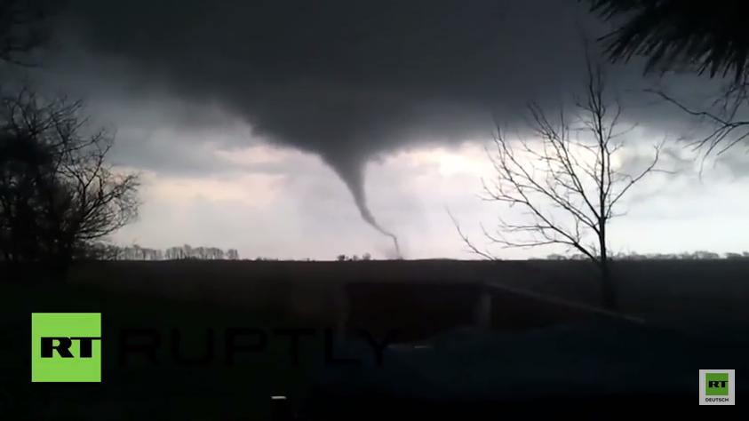 USA: Tornado zieht durch Illinois - Eine Tote und acht Verletzte