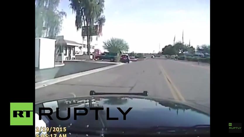 """Nächster Polizeiskandal: Video eines """"Räuberfangs"""" in den USA - Gas geben und umnieten"""