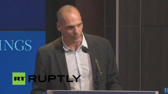 Live: Der griechische Finanzminister Varoufakis spricht über den IWF, die EZB und die EU