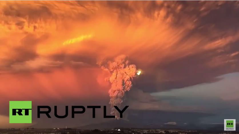 Notstand in Chile: Calbuco Vulkan bricht nach 42 Jahren erstmals wieder aus