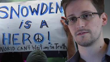 Plakat von Snowden-Unterstützern: