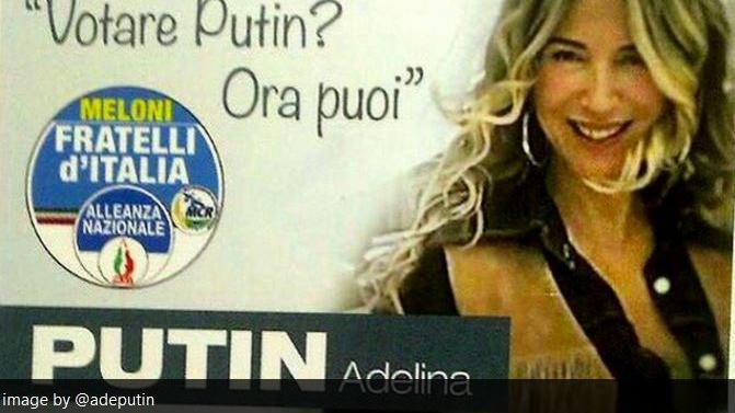 """Ein Putin nicht genug? Auch Italien hat jetzt seinen """"Putin"""": Weiblich, DJ und Kandidatin bei Gemeindewahl"""