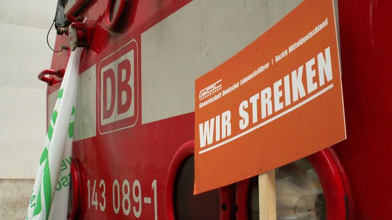 Eisenbahner im Streik. Quelle: bigbug21 CC BY-SA 2.5