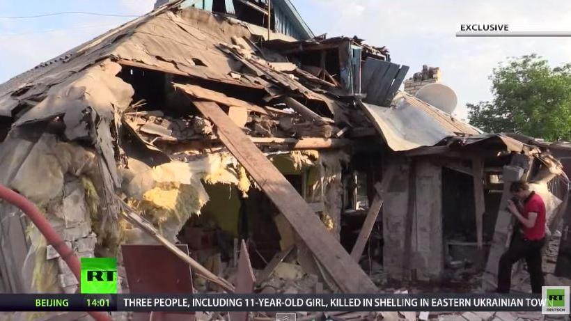 Donbass: 11-jähriges Mädchen und ihr Vater sterben bei Artillerieangriff der ukrainischen Armee