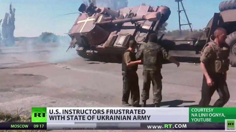 Die ukrainische Armee bringt US-amerikanische Militär-Ausbilder zum Verzweifeln