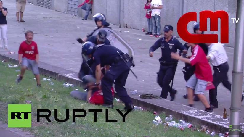 Portugal: Polizei schlägt Fußballfan vor den Augen seiner Söhne brutal zusammen