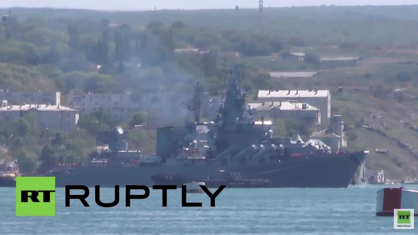 Russland: Flaggschiff der Schwarzmeerflotte sticht in See für Militärübungen mit China